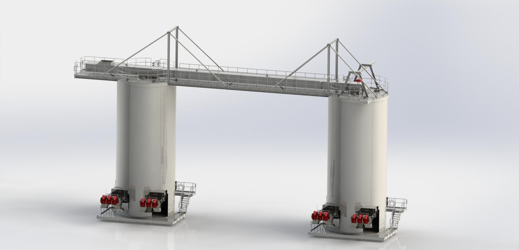 Biomasse-Förderanlage, Dänemark